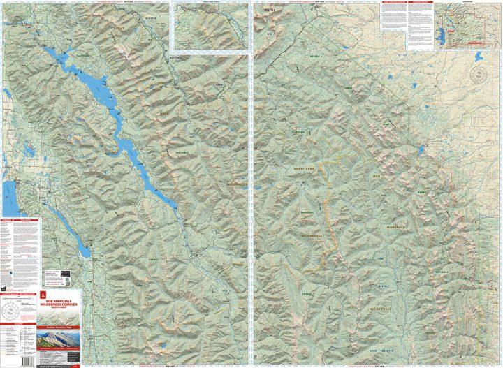 Bob Marshall Wilderness Complex Map North Half