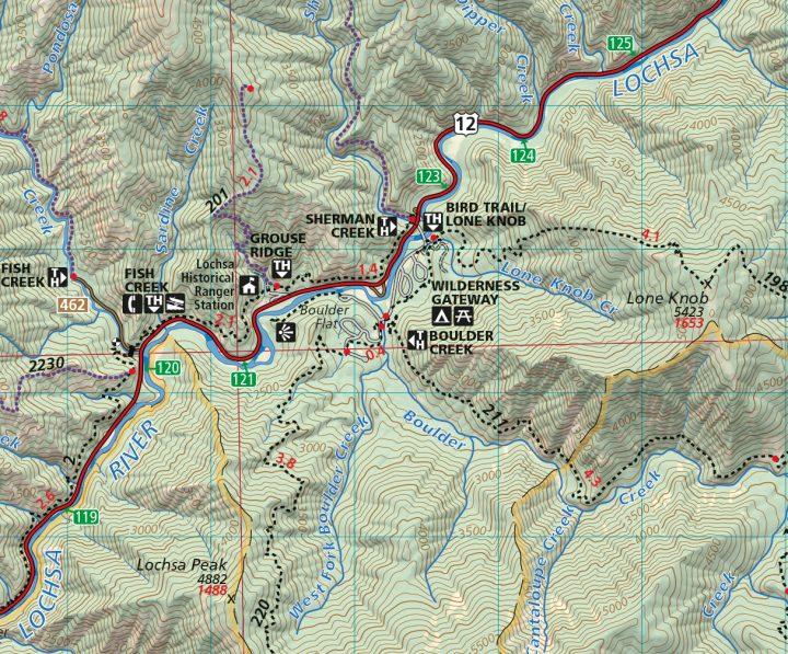 Selway-Bitterroot North Half Map Sample