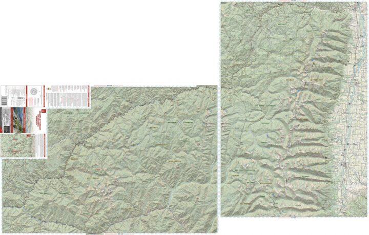 Selway-Bitterroot WIlderness North Half Map