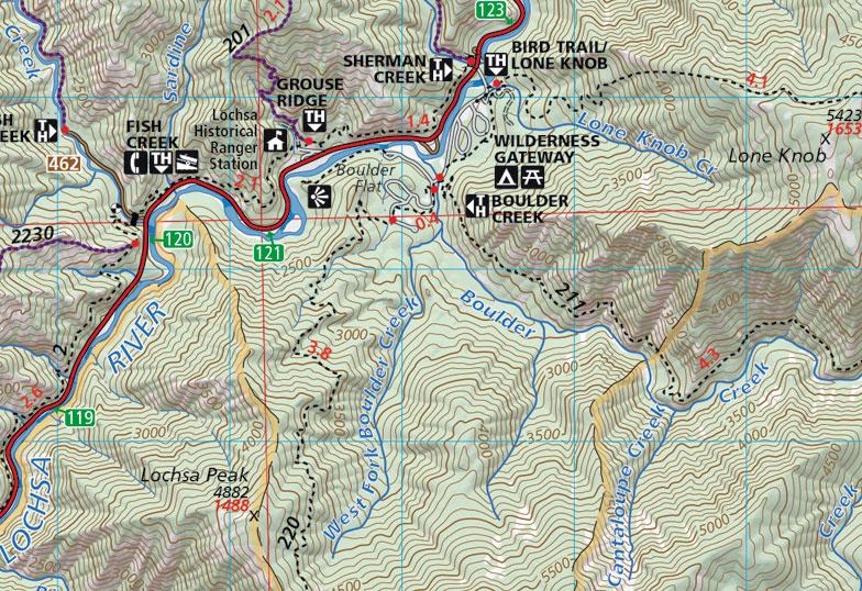 selway bitterroot wilderness map