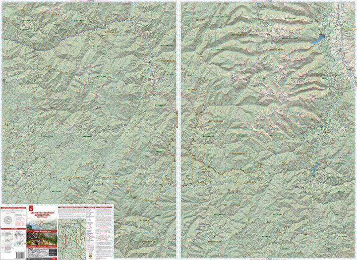 Selway-Bitterroot: South Half Map