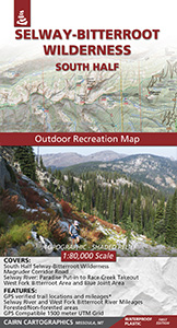 Selway-Bitterroot Wilderness Map: South Half Cover