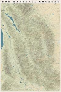 Bob Marshall Country Map