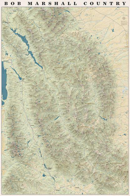 Bob Marshall Country Map