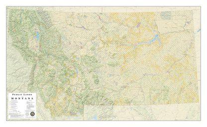 Public Lands of Colorado Wall Map