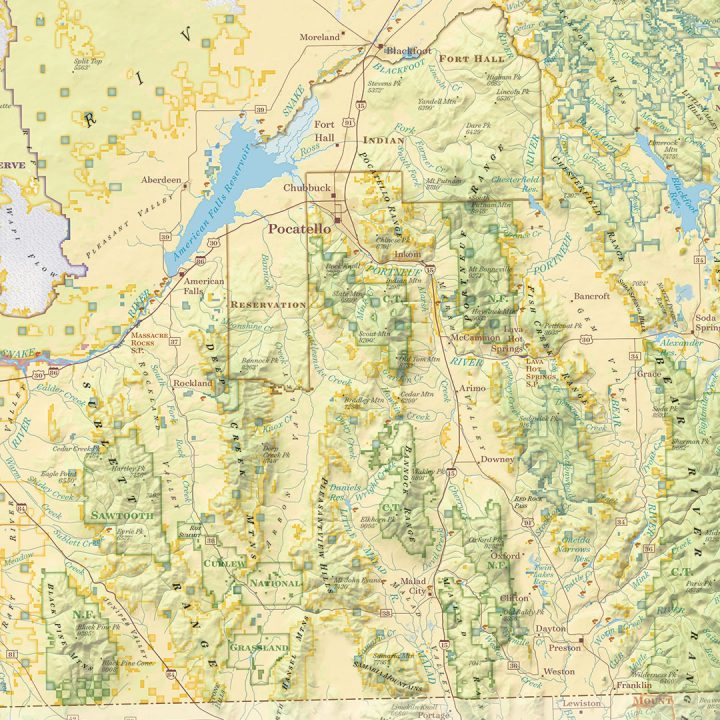 Public Lands of Idaho Sample 50%